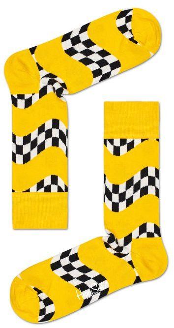 Skarpety Wysokie Happy Socks Szachownica RAC01-2200 (HS9-a)