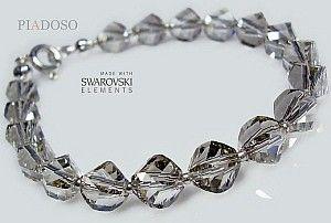 Swarovski piękna bransoletka SILVER HELIX srebro