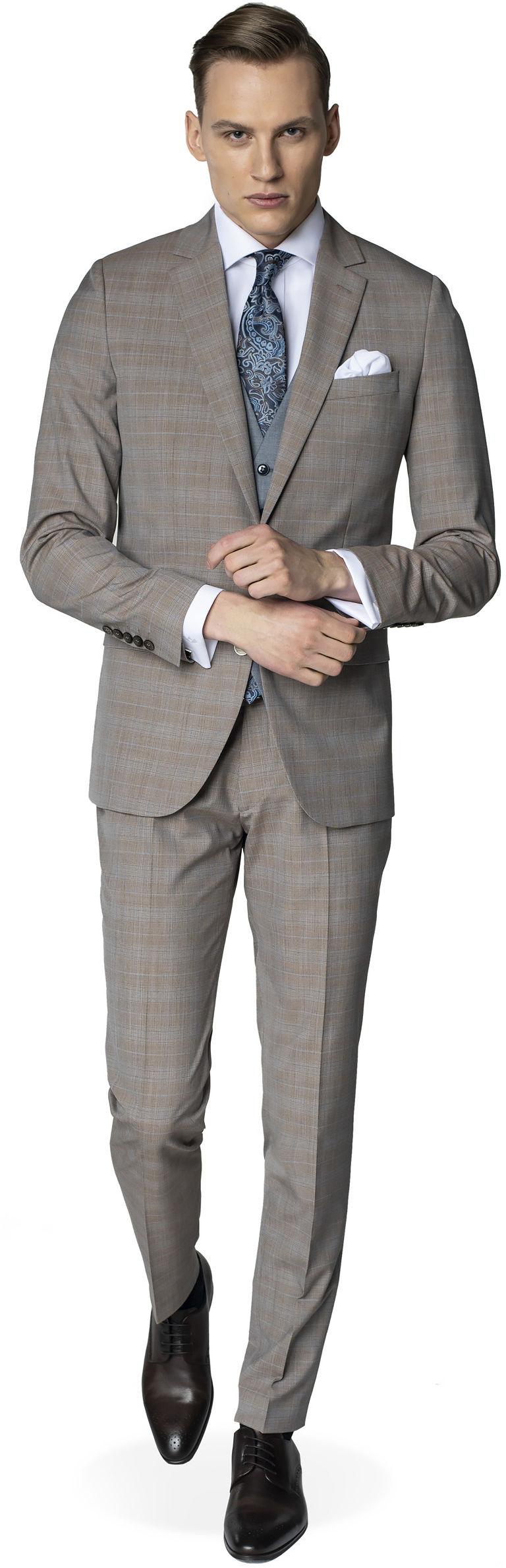 garnitur halwin 315/a beż slim fit