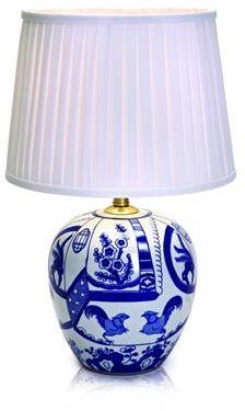 Lampa stołowa Goteborg (duża) 105000 Markslojd wzorzysta lampa stołowa z abażurem
