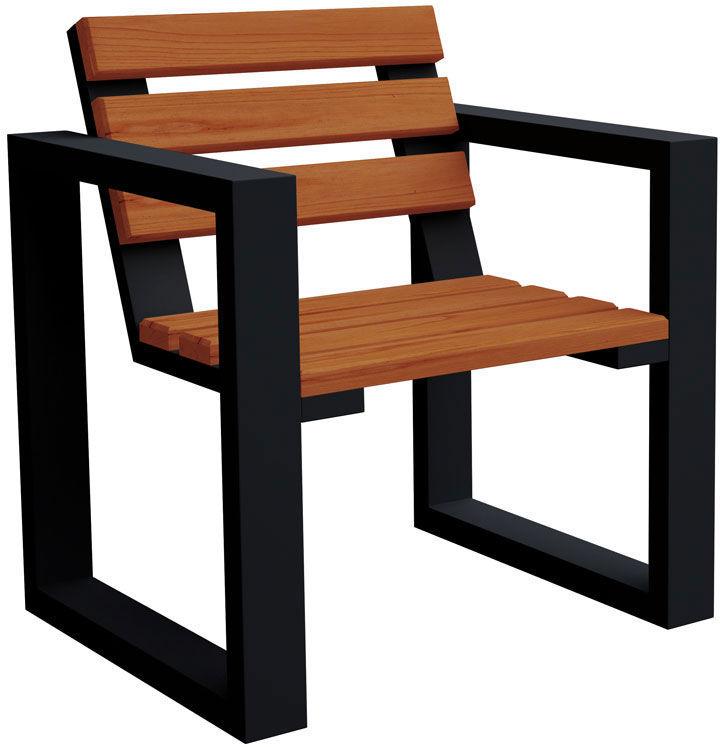 Fotel ogrodowy Norin Black - 8 kolorów