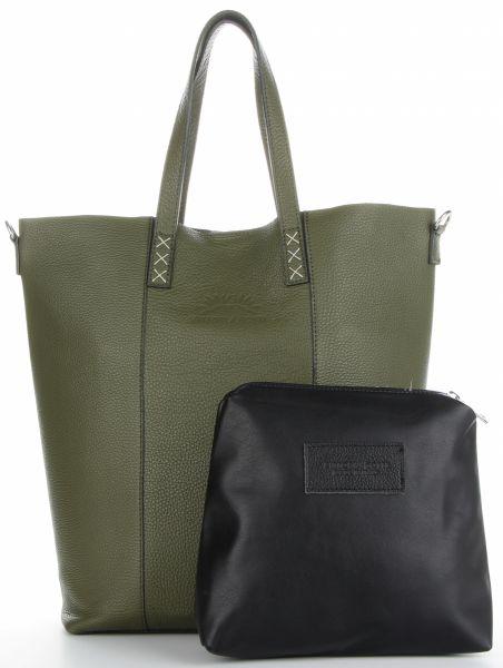 Torebki Skórzane typu Shopper firmy VITTORIA GOTTI Zielone (kolory)
