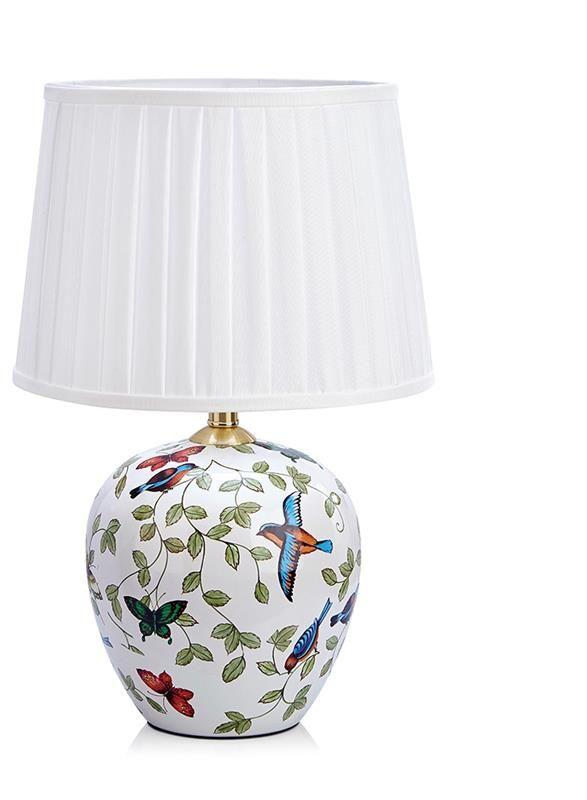 Lampa stołowa Mansion (duża) 107040 Markslojd wzorzysta lampa stołowa z abażurem