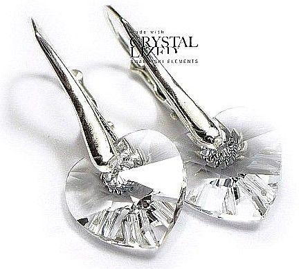 SWAROVSKI piękne kolczyki SREBRO 10 Crystal