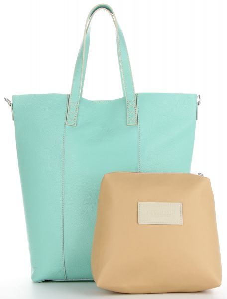 Torebki Skórzane typu Shopper firmy VITTORIA GOTTI Mietowe (kolory)