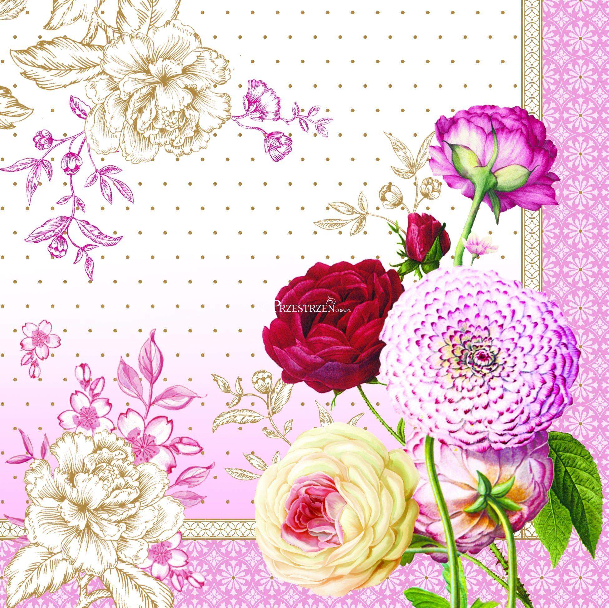 SERWETKI PAPIEROWE - Renaissance - Kwiaty