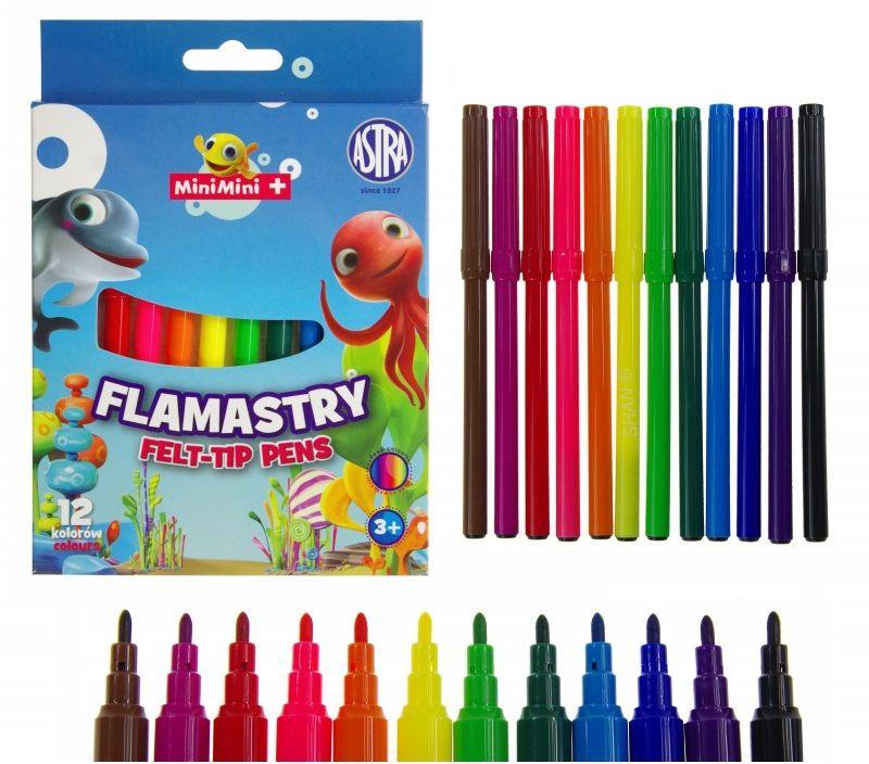 Flamastry 12 kolorów Mini Mini Astra 0573 5977-FL-MINI