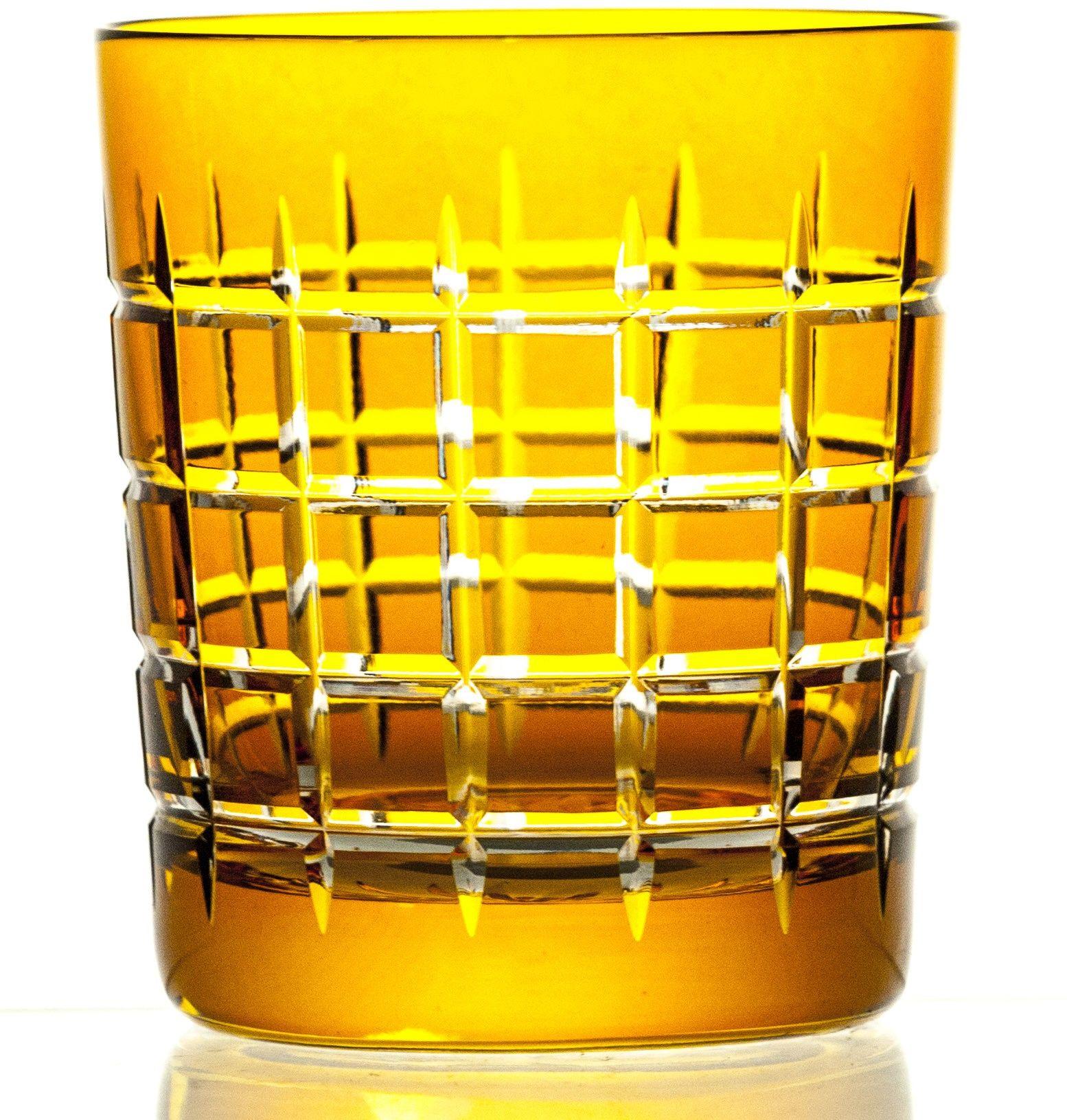Szklanki kryształowe malowane do whisky 6 sztuk (09247)