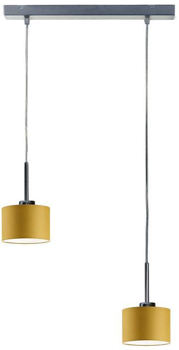 Lampa wisząca z okrągłymi kloszami na srebrnym stelażu - EX424-Montanex - 18 kolorów