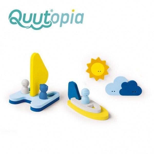 Zestaw puzzli piankowych 3D do kąpieli Przygoda na wodzie - Quut