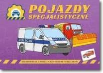 Pojazdy specjalistyczne-kolorowanka z modelem samochodu i naklejkami