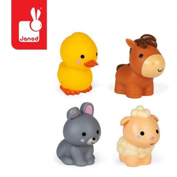 Zestaw do kąpieli 4 zwierzątka z farmy - Janod