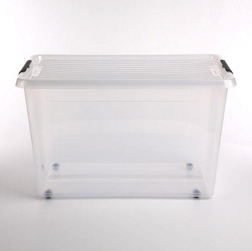 Pojemnik do przechowywania zamykany na kółkach 390x350x580mm 60,0L ORPLAST SIMPLE BOX transparentny 1 szt /OR-1732SB/