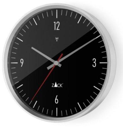 Zack VIDA Zegar Ścienny Sterowany Radiowo 24 cm - Czarny