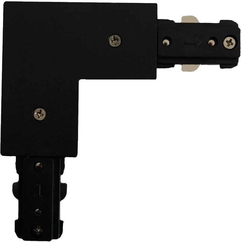 Light Prestige LP-552-S-BK łącznik L czarny do szynoprzewodów 1F metalowy