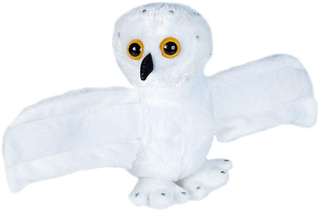 Wild Republic Huggers miękka zabawka Slap bransoletka, prezenty dla dzieci, pluszowa zabawka ze śniegiem sowa 20 cm
