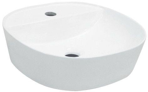 Umywalka nablatowa owalna 40 x 40 x 12 cm ceramiczna