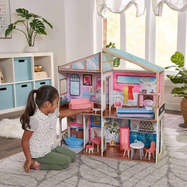 Domek dla lalek Magnetic Makeover KK10154-KidKraft, zabawki drewniane