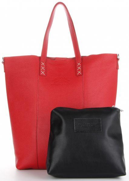 Torebki Skórzane Shopper Bag firmy VITTORIA GOTTI Czerwone (kolory)