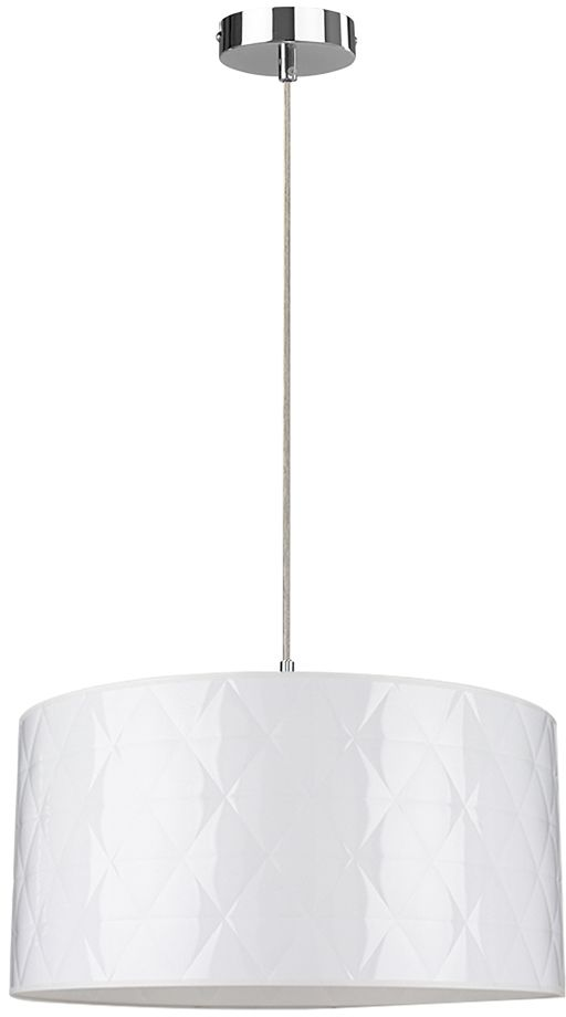 Spot Light 1761028 Maxima lampa wisząca chrom/transparentny klosz biały 1xE27 60W 50cm