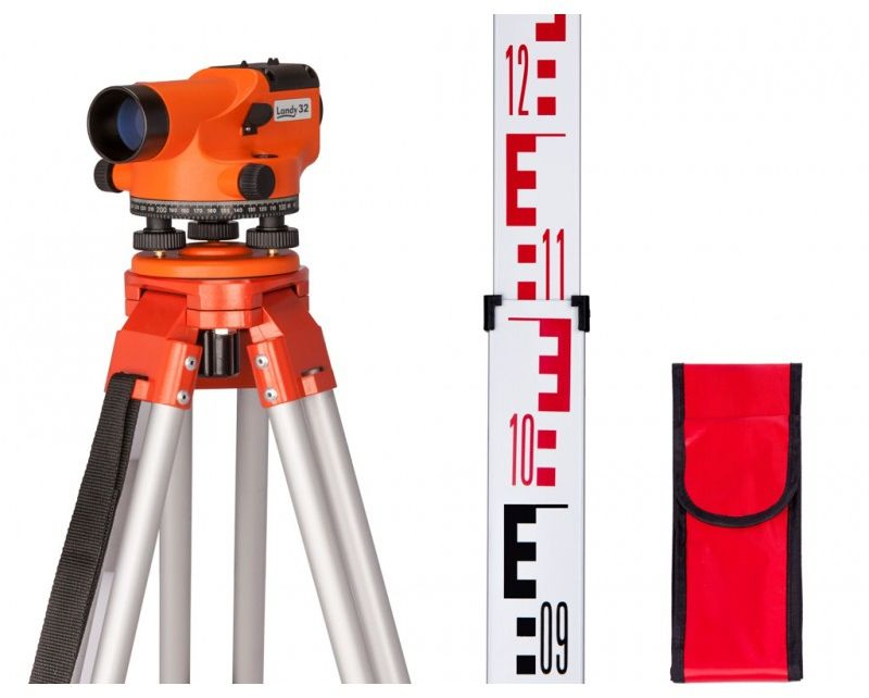 Niwelator optyczny Landy 32 Statyw + Łata Zestaw