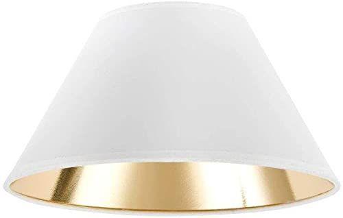 Klosz lampy w kształcie wiktoriańskim, Ø 35 x 15 x 21 cm, biały