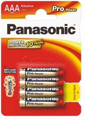 Baterie Panasonic Alkaline PRO Power LR03 / AAA 4 sztuki