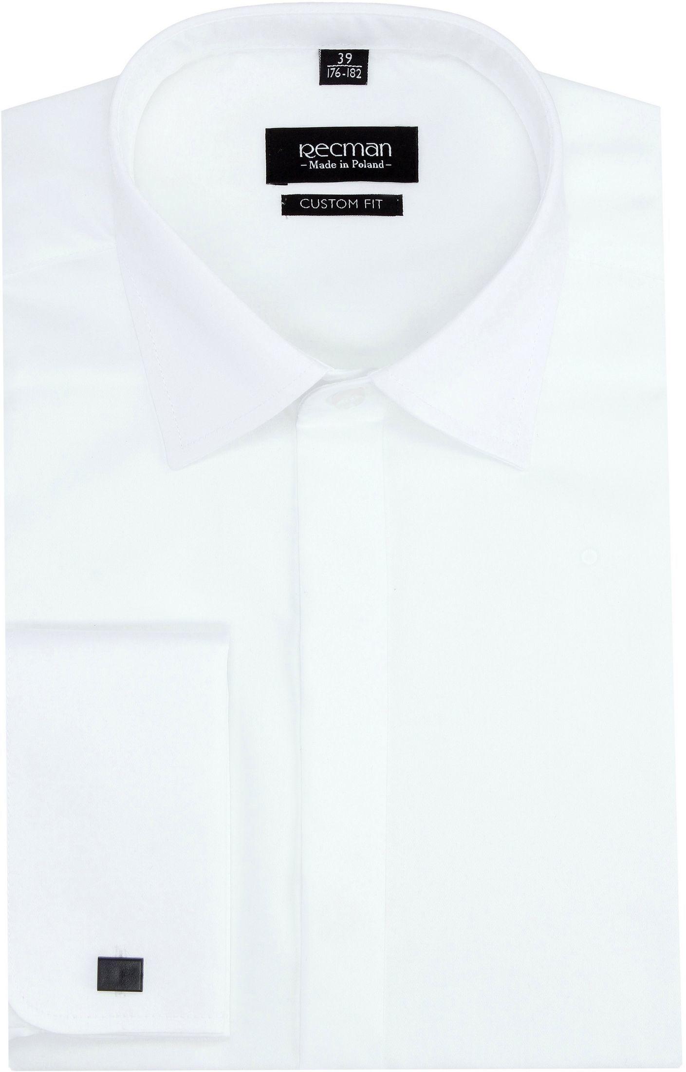 koszula versone 2622 na spinki custom fit ecru