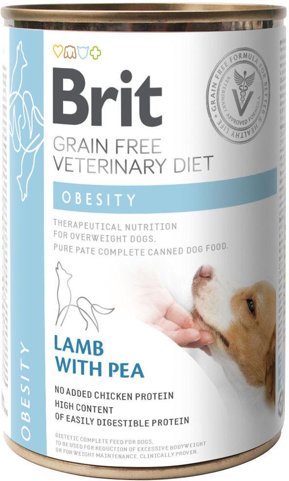 Brit Veterinary Diet Obesity Lamb&Pea 400g