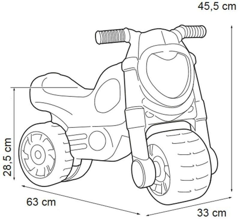 Feber Jeździk dla dzieci odpychacz MotoFeber