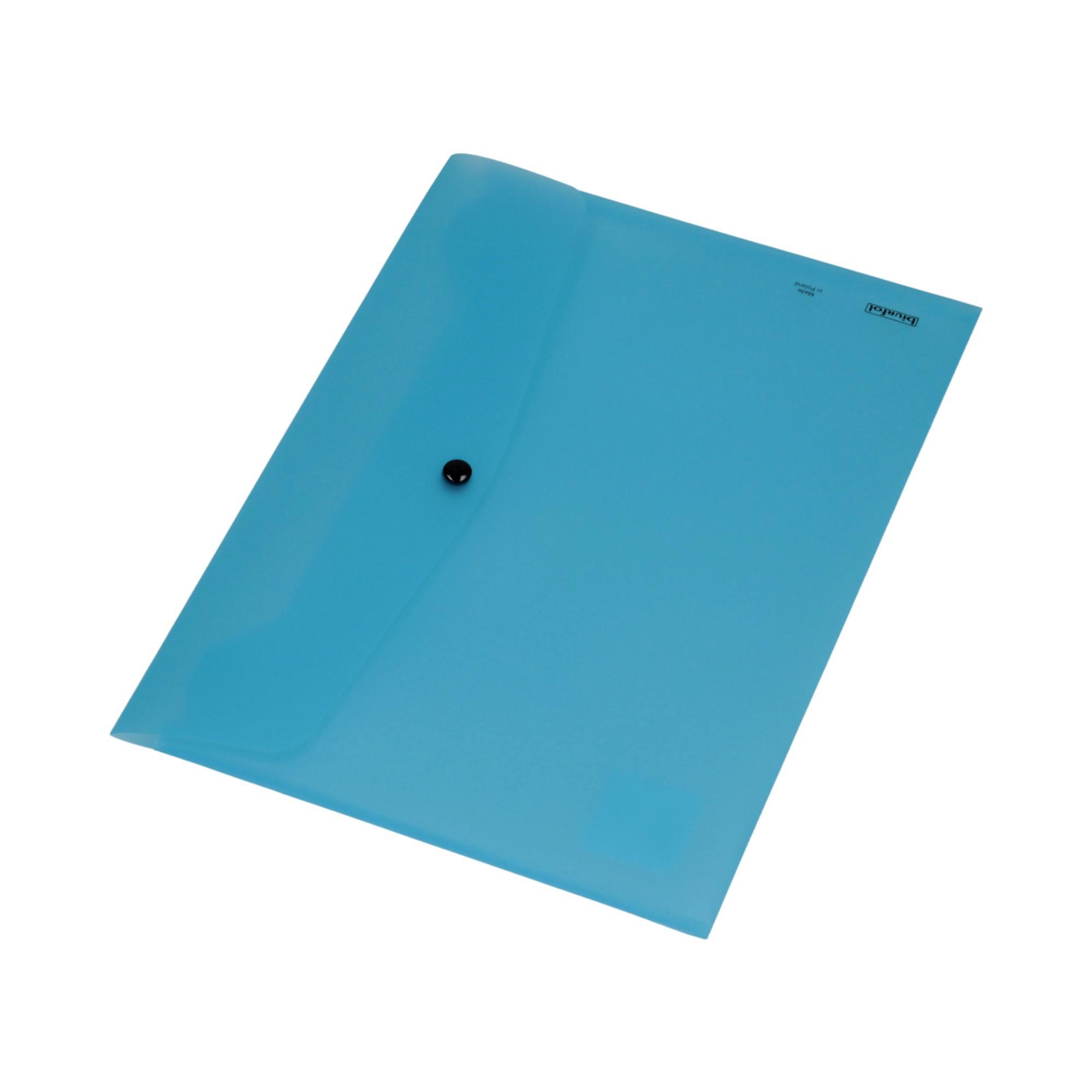 Teczka kopertowa A4/PP niebieska