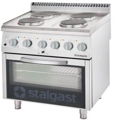 Kuchnia Elektryczna 4-Polowa 10,4 kW z Piekarnikiem Elektrycznym Statycznym 400 V