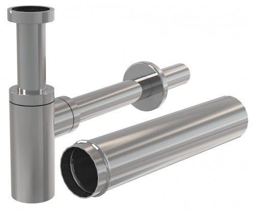 Półsyfon umywalkowy 50 mm , DN32 +Przedłużka metalowa 15 cm ,CHROM