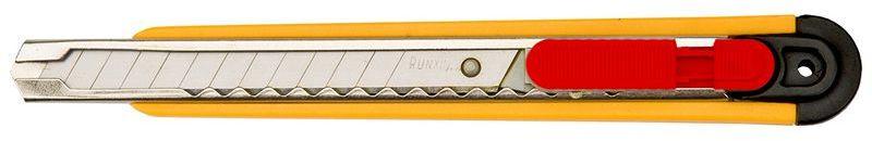 Nóż z ostrzem łamanym 9mm metalowe prowadnice ostrza korpus plastikowy 17B109