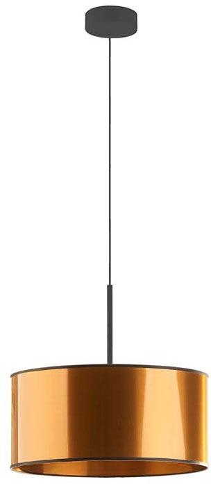 Miedziany żyrandol z okrągłym abażurem 30 cm - EX871-Sintrev