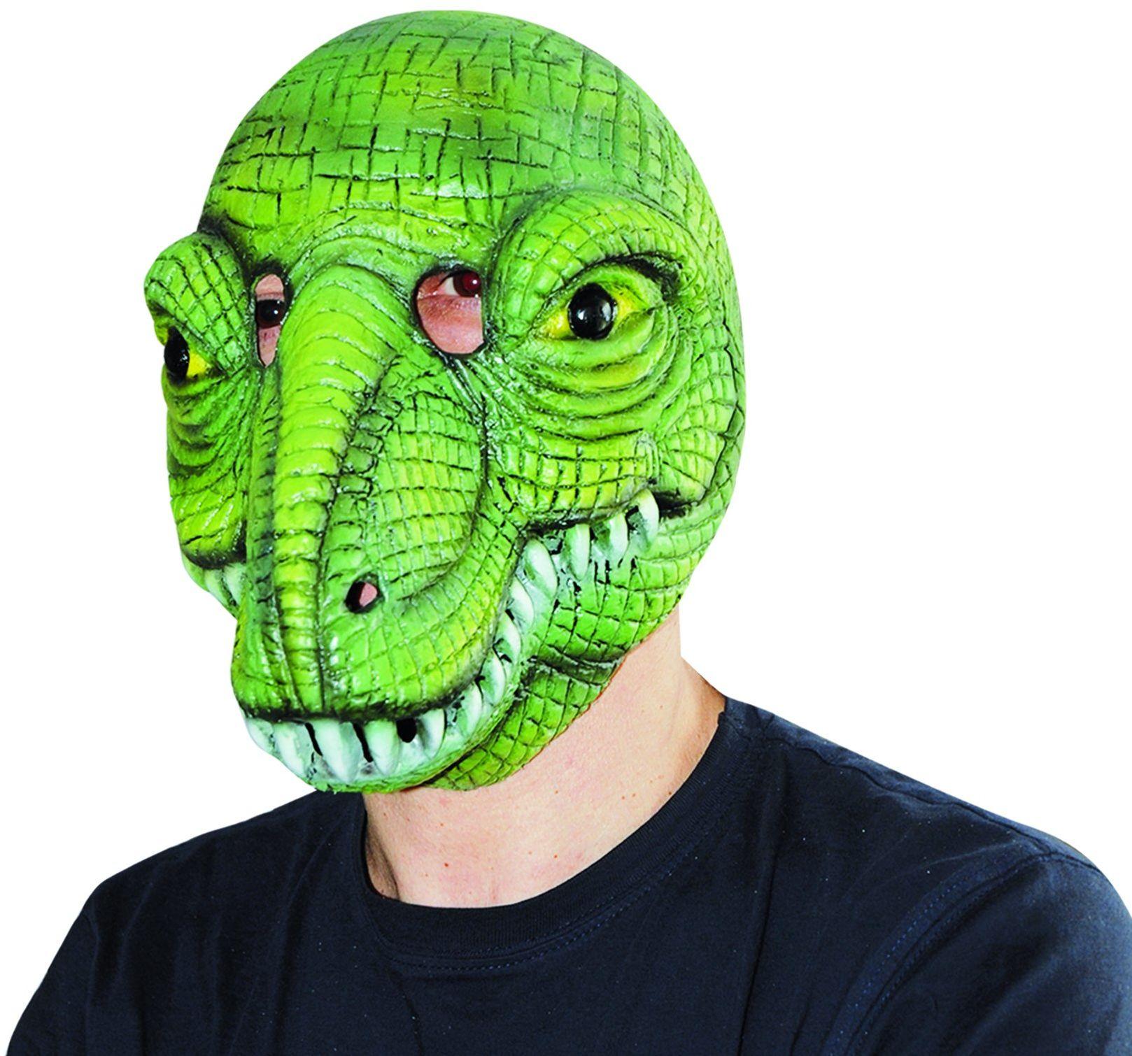 Ciao 30664  maska krokodylkowa z lateksu, różne kolory