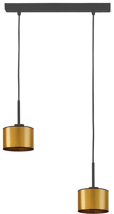 Złota podwójna lampa wisząca nad stół - EX434-Montanox