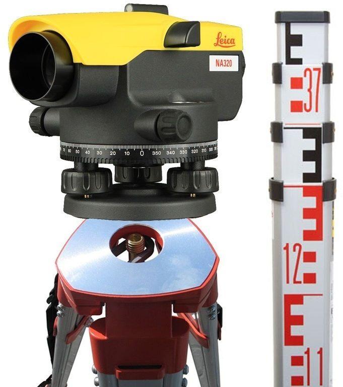 Niwelator optyczny Leica NA324 + statyw + łata