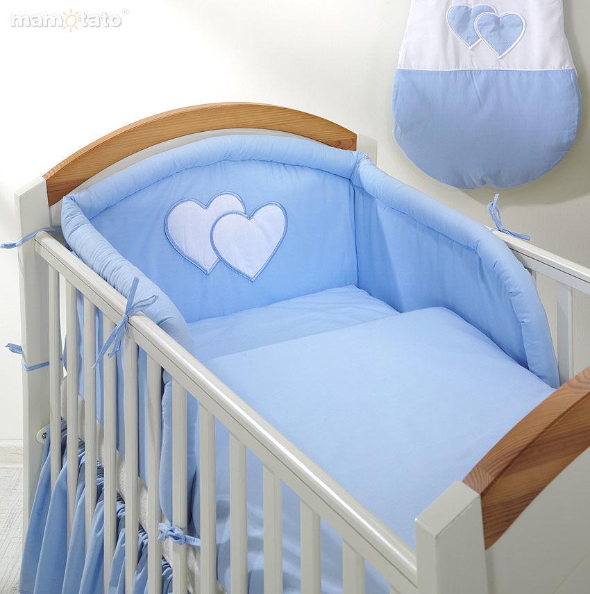 MAMO-TATO pościel 2-el Błękitna do łóżeczka 60x120cm