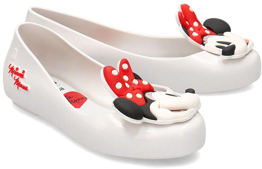 Melissa Sweet Love + Minnie - Baleriny Dziecięce - 32807 01177 - Biały