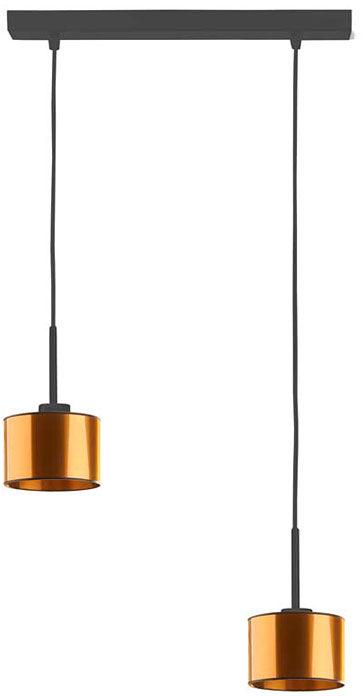 Miedziana podwójna lampa wisząca regulowana - EX434-Montanox