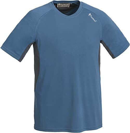 Pinewood Męski T-shirt Activ T-Shirt, niebieski/szary, L