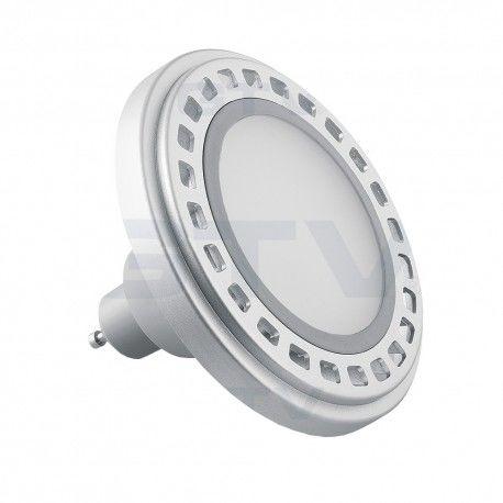 Żarówka LED 12W 850lm GU10 ES111 ciepły biały z srebrnym aluminiowym radiatorem z mleczną szybką GTV 9668