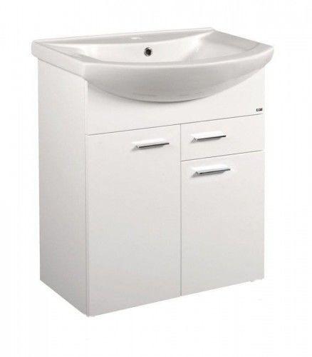 ZOJA szafka umywalkowa, 61,5x74x32,5cm, 2 drzwiczek, 1 szuflada, biała