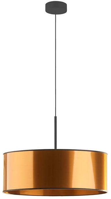 Miedziany żyrandol nad stół z abażurem 50 cm - EX873-Sintrev