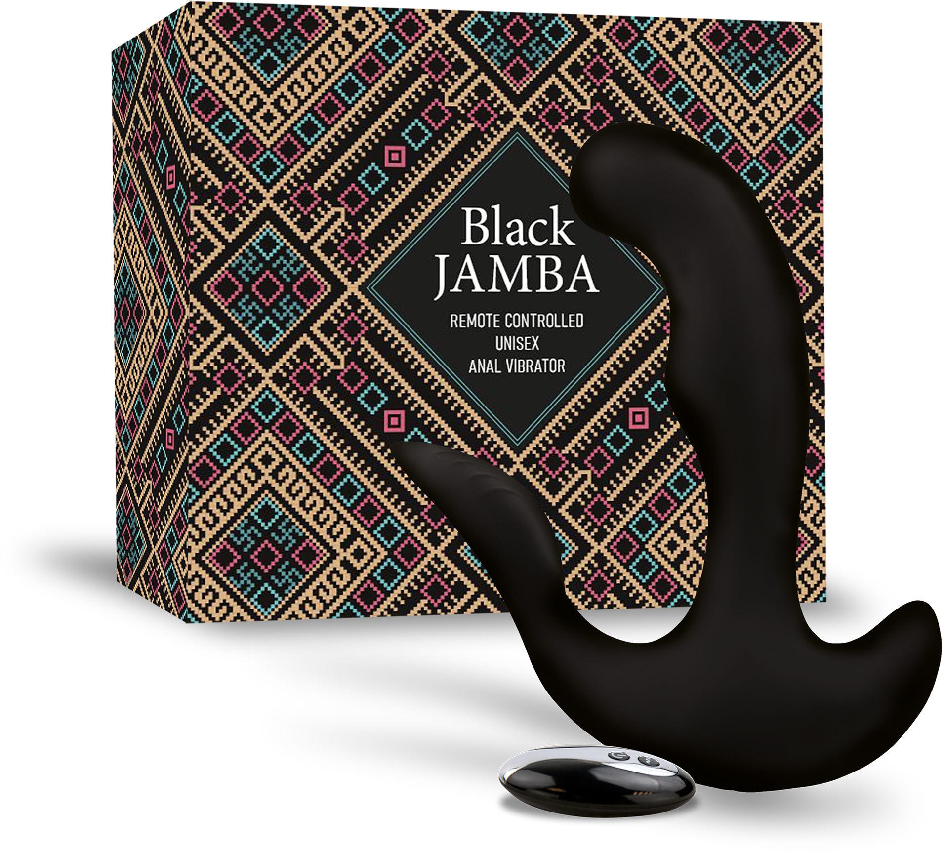 FeelzToys Black Jamba Anal Vibrator Black