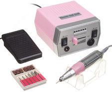 Frezarka do manicure JD700 Różowa + zestaw frezów