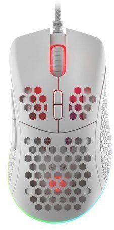 NATEC Mysz Genesis Krypton 550 8000 DPI podświetlenie RGB dla graczy lekka Biała