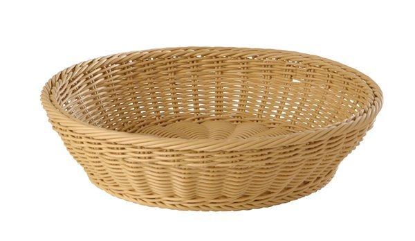 Koszyk okrągły z polipropylenu beżowy różne wymiary