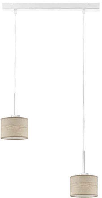 Lampa wisząca fornirowana na białym stelażu - EX435-Montans - 4 kolory